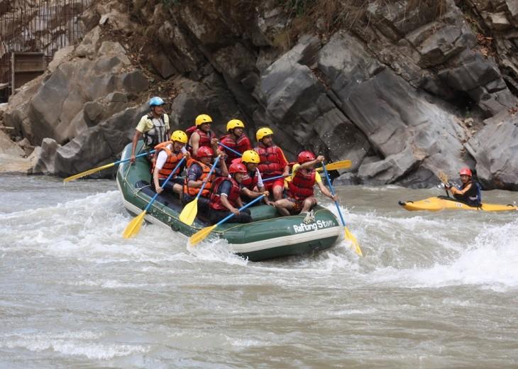 Sun Koshi River Rafting budget trekking